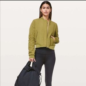 Lululemon Warm Two Ways Bomber Green 2